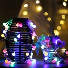 5 м 40 шариков светодиодные Рождественские огни уличная Новогодняя