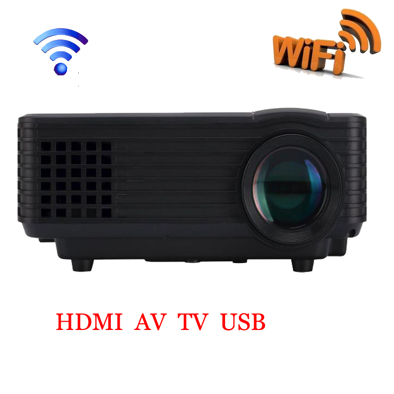Digital LCD LED Multimedia Mini Proyector de Cine En Casa 3D Cinema HDMI USB Víd