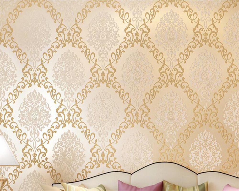 Beibehang papel de parede European Wallpaper Bedroom 3d Wallpaper 3d Stereo Embossed Deluxe Living Room TV Background Wallpaper large mural papel de parede european nostalgia abstract flower and bird wallpaper living room sofa tv wall bedroom 3d wallpaper