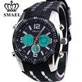 SMAEL Мода Luxury Brand мужские Кварцевые Цифровые Часы Мужские Спортивные Часы Кожа Военный Наручные Часы Человек Relogio Masculino