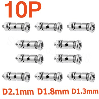 10pcs Adjustable Pushrod Connectors Linkage Stoppers D2.1mm D1.8mm D1.3mm RC Airplane Replacement parts Remote Control Toys image