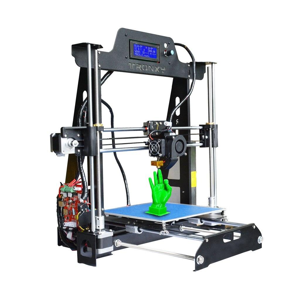 TRONXY T819 Grande Taille D'impression 220*220*240mm Haute Précision En Acier Structure 3D Imprimante Auto Niveau LCD affichage Kit
