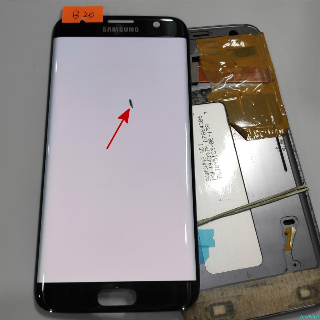 番号 b20 サムスンギャラクシー S7 エッジ G935F G935A G935FD 欠陥 lcd ディスプレイタッチスクリーンデジタイザと 5.5 ''スーパー AMOLED 黒  グループ上の 携帯電話 & 電気通信 からの 携帯電話用液晶ディスプレイ の中 1