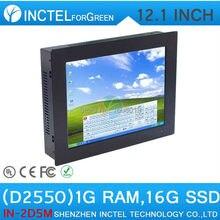 12 Дюймов Пять провод Gtouch сенсорный экран с помощью высокой температуры, ультра тонкий сенсорный экран панель embedded pc с 1 Г RAM 16 Г SSD