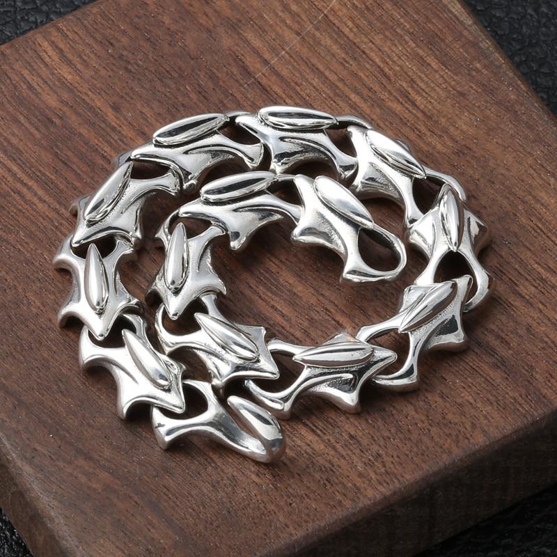 Width 12mm 100% Real 925 Sterling Silver Punk Survival Bracelet for Women Men Friendship Charm Bracelet Bangle Fine Jewelry Gift
