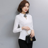 New Spring Wo Shirts Business Attire Blouse Shirt White 182