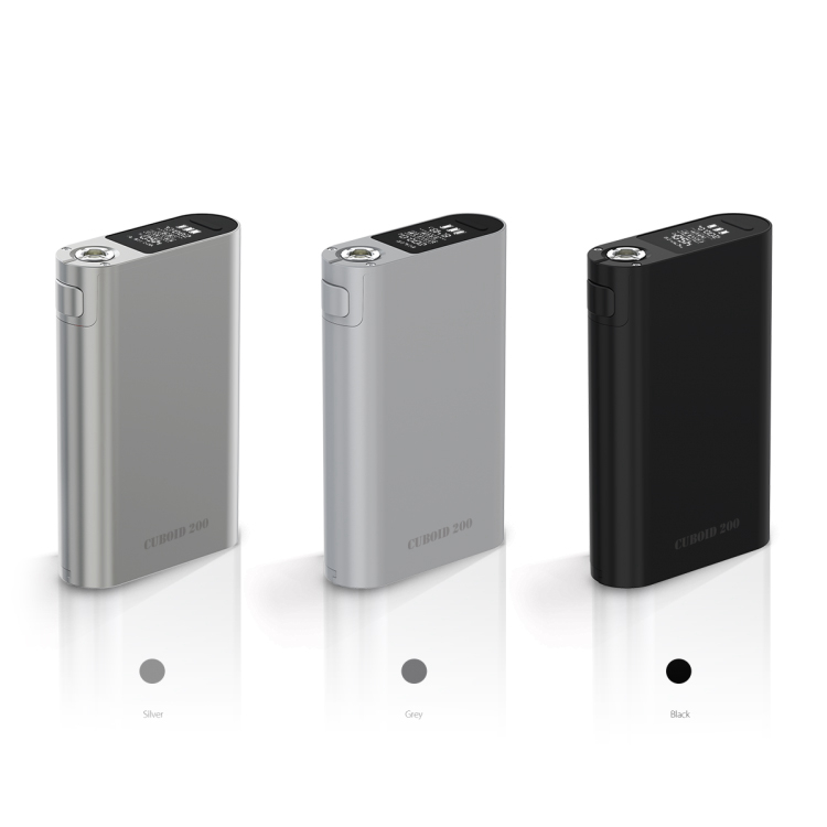 Original 200W TC Box MOD First Triple 18650 Cells Mod Glossy Zinc Alloy Shell with Premium