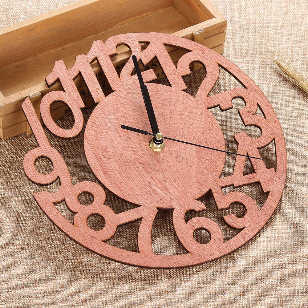 New Clock Watch Wall Clocks  3D Wall Clock Number Wooden Silent Clock For Home Kitchen Office sticker diy living room decor