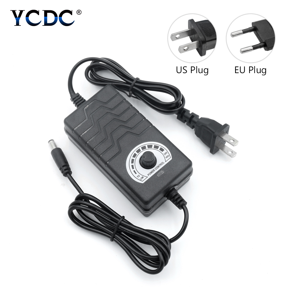 Power <font><b>Adaptor</b></font> 1V-<font><b>24V</b></font> <font><b>24V</b></font>-36V Adjustable <font><b>AC</b></font> 100-240V Universal power adapter supply for US EU Plug charger Motor Speed Controller image