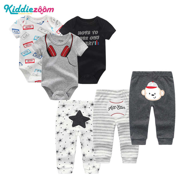 Top Summer Baby Clothes Set Boy Bodysuit +Pants Newborn Infant Playsuits Baby Boy Girl Clothes sets Cute Cartoon Animal Jumpsuit