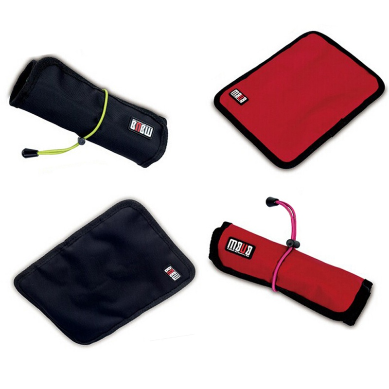 Mini Size Portable Cable Organizer Bag can put USB Cables Earphone Pen Roll Up Storage Bags Useful 1