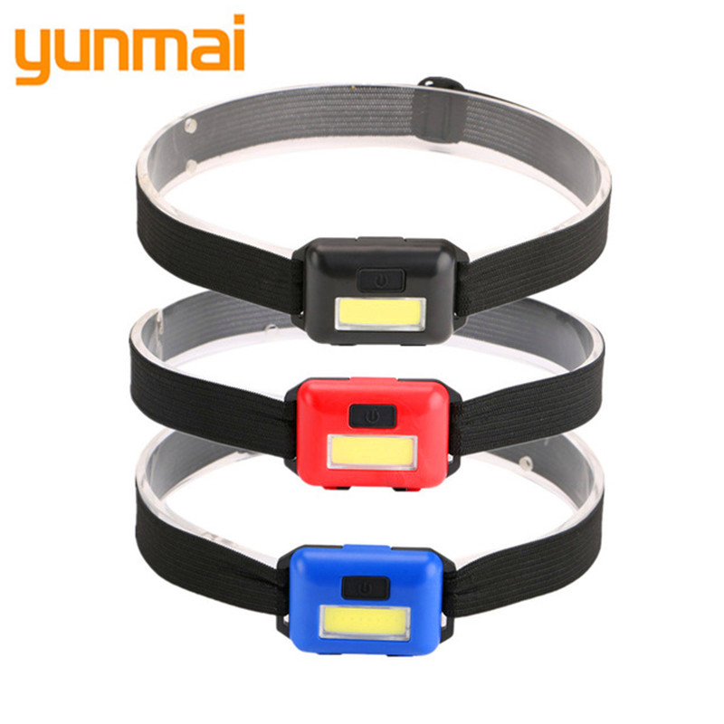 Mini Waterproof COB LED Headlamp Headlight 3-modes Head Light Lamp Torch Lantern By 3xAAA For Outdoor Camping Fishing Hiking Q6