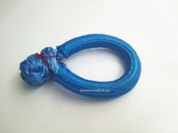 Blue 10mm 80mm ATV Winch Shackle Synthetic Winch Rope Soft Shackles For Off Road Rope Shackle