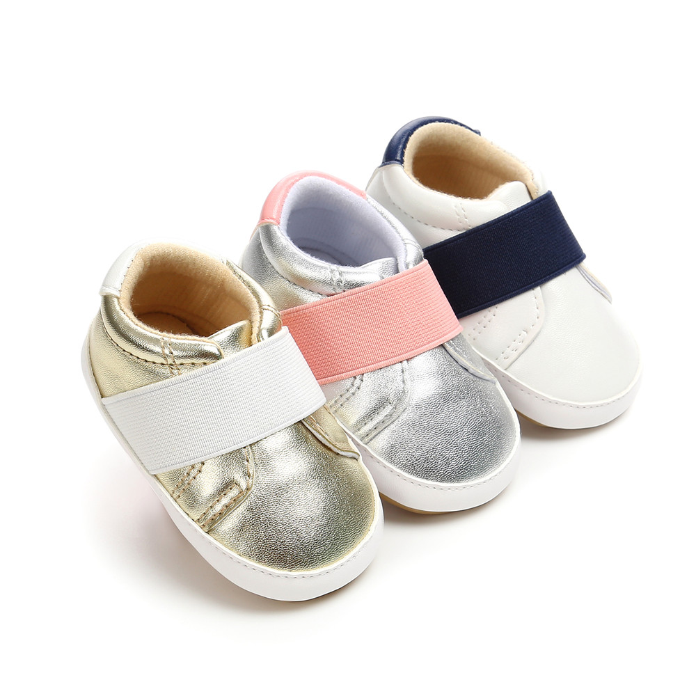 Novo Design de Sapatos de Couro Do Bebê Recém-nascido Menino Prewalkers Sola De Borracha Anti-slip Soft PU Outono Crianças Sapatos de Bebê Por Atacado