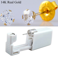 1pc CZ Stud Earing Disposable Ear Piercing Units Gun Tool For Babies Kids And For Sensitive