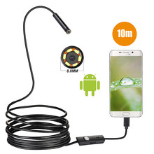 720P 8 Mm OTG Android Endoskopi Kamera 1M 2M 5M 10M Endoskopi Video Borescope Inspeksi camera Windows dengan Kabel USB untuk Mobil(China)