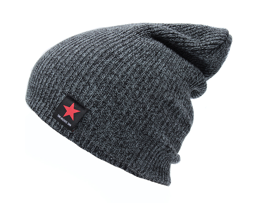 65c1e5d5d7d Hip Hop Male Cap Women s Solid Skullies Beanies With Label Fashion Casual  Brand Autumn Knitted Hat Female Beanies Men Winter