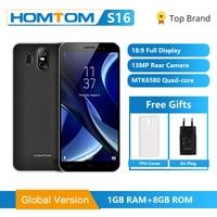 Versão global homtom s16 smartphone 5.5 polegada celular celular quad core 2 gb ram 16 gb rom câmera dupla impressão digital telefone móvel|Celulares| |  -