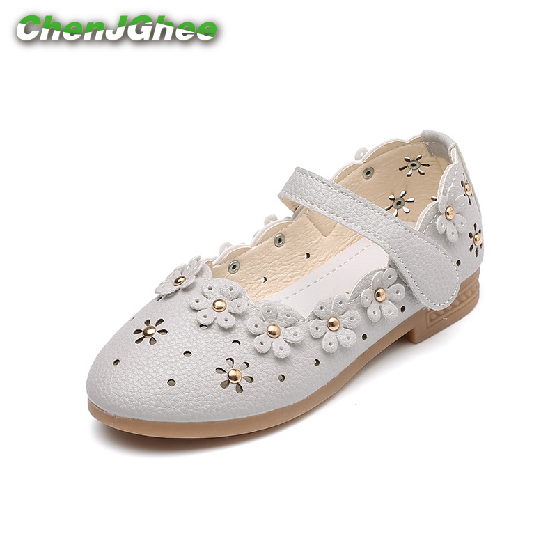 Mumoresip PU Leather Girls Shoes Toddler Baby Girl Flats Flowers Cut-outs Princess Kids Shoes Children Girls Soft Shoes Loafers