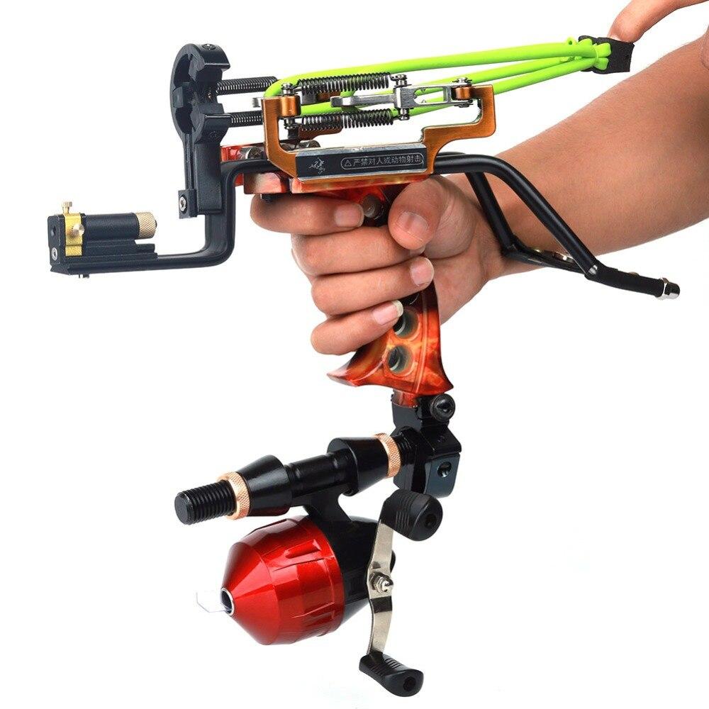 Puissant chasse pêche poignet fronde tir Laser catapulte tir à l'arc flèche reste professionnel tir à l'arc réglable ensemble