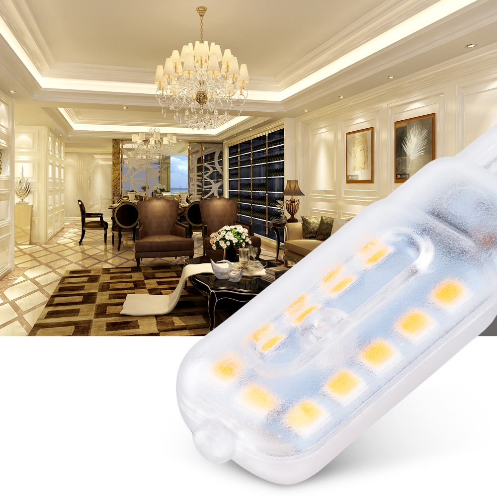 Купить с кэшбэком 10PCS G9 Ampoule Led 3W Bulb Lampada G9 Led 220V Lamp 5W Spotlight For Chandelier 2835 SMD Home Lighting Replace Halogen Lamps