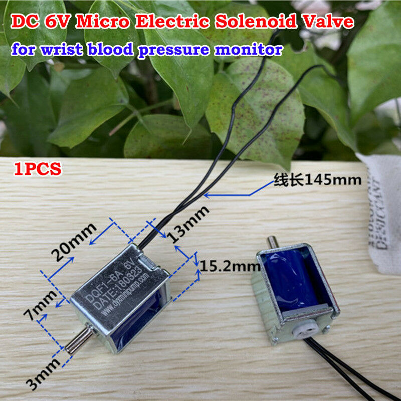 DC 6V Micro Mini Electric Solenoid Valve Small Air Gas Valve For Blood Pressure Monitor Electronic Sphygmomanometer