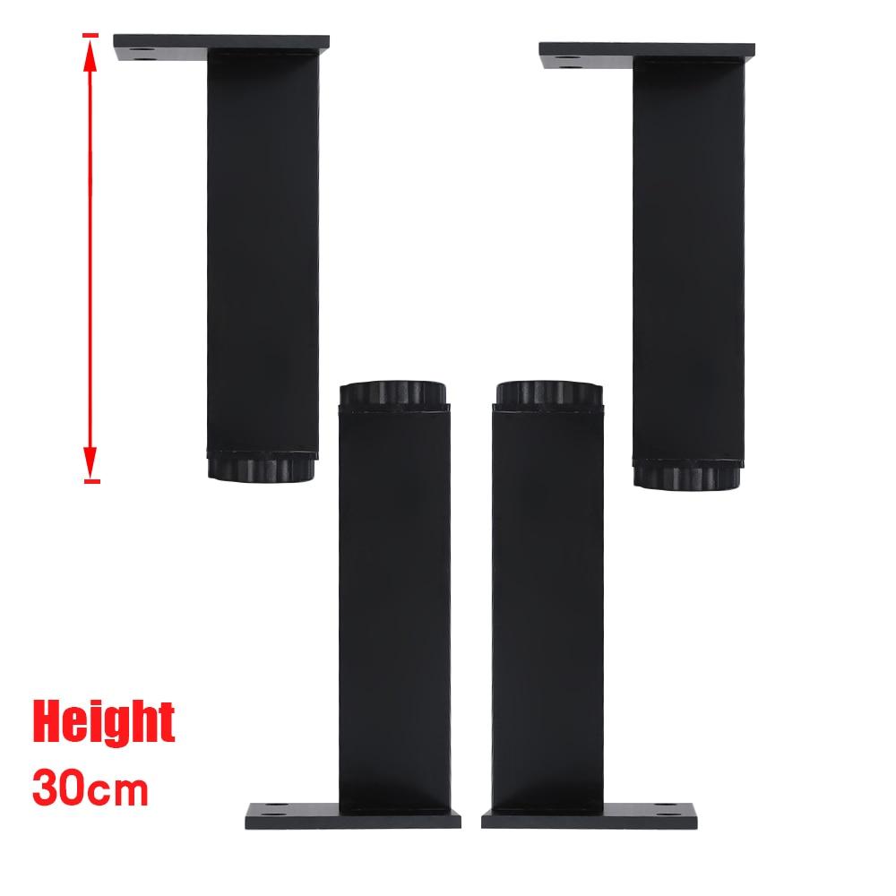 300x38MM Black Rectangle Aluminum Alloy Legs Height Adjustable Feet Cabinet Table Legs