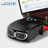 CoolCold Laptop Cooler LED Display Intelligent Control Quiet Portable Notbook Air Extracting Exhaust Cooling Fan CPU Cooler