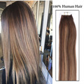 Tape Hair Extensions Balayage Remy Hair Tape Extension Glue Tape In Human Hair Extensions European Long Thick End Hair On tape