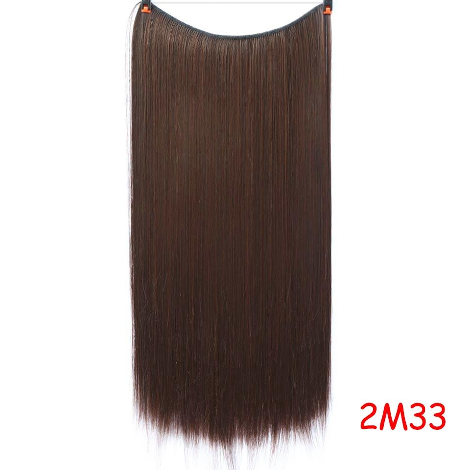 """SHANGKE 2"""" флип-на проволоке в синтетическом скрытом невидимом не клип в головном повязке прямые высокотемпературные волокна для наращивания волос - Цвет: #4"""