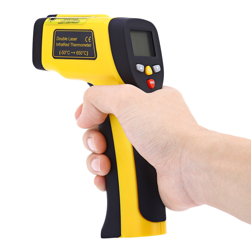 HT - 817 Digital LCD Display Non-Contact IR Infrared Thermometer -50 to 650 Degree Auto Temperature Meter Sensor Gun Handheld mastech infrared thermometer 20c 300c non contact auto range lcd digital display laser handheld temperature meter