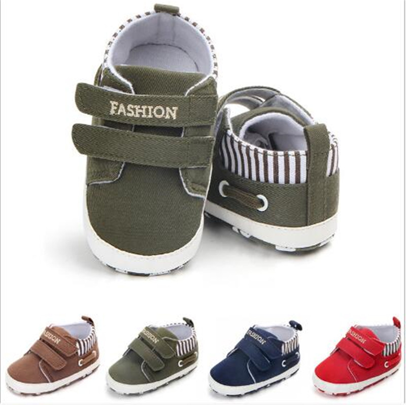 Fashion Baby Shoes Boys Canvas Sport Shoes Antislip Infants First Walkers