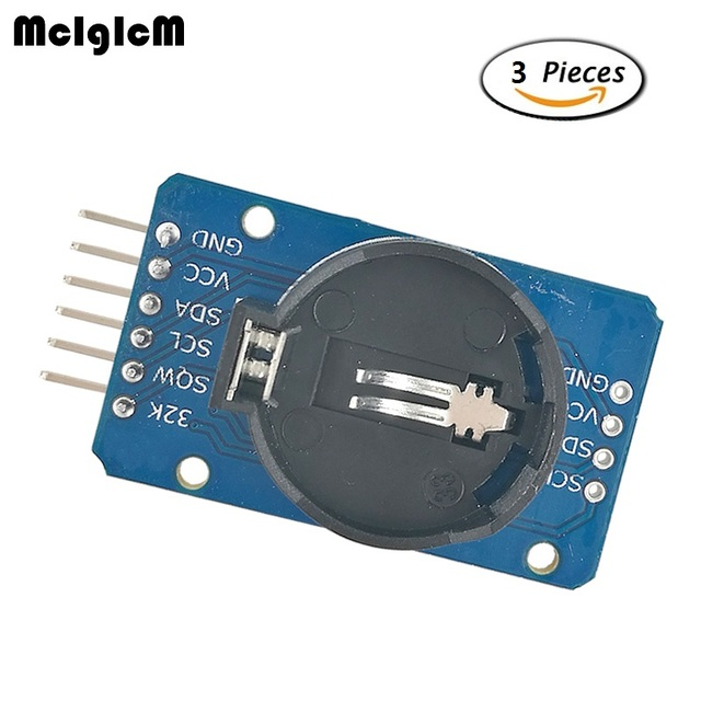 MCIGICM 3pcs DS3231 AT24C32 IIC Module Precision Real Time Clock Memory Module