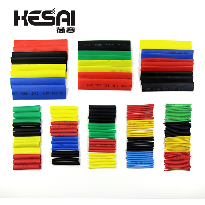 Image 2 - 164PCS Heat Shrinkable Tube Polyolefin Casing Cable Tube Kit Mixed Color-in Insulation Materials & Elements from Electronic Components & Supplies
