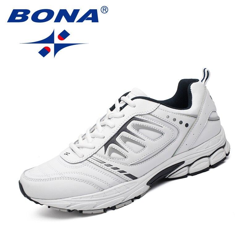 BONA Neue Stil Männer Laufschuhe Ourdoor Jogging Trekking Sneakers Lace Up Sportschuhe Bequeme Licht Weich Kostenloser Versand | Spargut