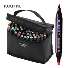 TOUCHFIVE Markers 80 Color Design Marker Pens Painting Pen Dual Tip Marker Alcoholic Sketch Pens Drawing  for Kids and Artist