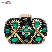 Moccen 2017 Handbags Women Famous Brand Beaded Evening Handbag Wallet Designer Diamon Purses And Handbags Lady Clutch Bags