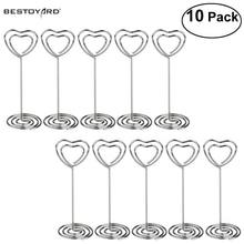 Clips en forme de cœur, 10 pièces/ensemble, pour cadeaux de mariage, pour Table, pour numéro de mémo Photo