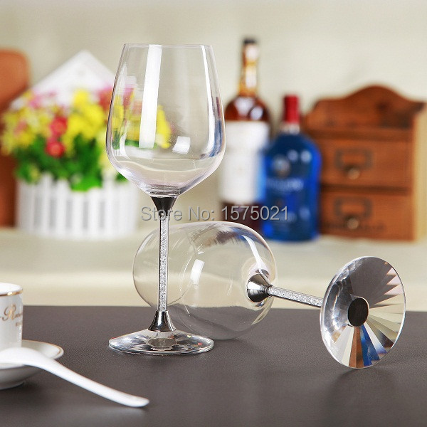 Wine Glasses For Sale Part - 27: 2017 Fashion Hot Sale 518ml Crystal Wine Glasses Set(China (Mainland))