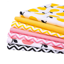 New 6 Designed Twill Cotton Fabrics DIY Patchwork Quilting / Fabric for Baby and Children Pillows, Cushions, Curtains Material
