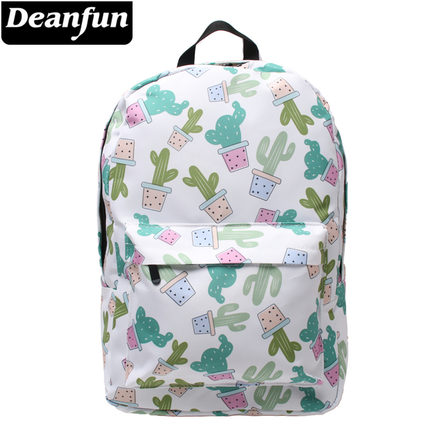 741d681728 Deanfun Women s Multifunctional Backpack Cactus Printing Fashion Bags for  School 80012