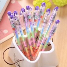 3 pcs/lot Cute Highlighter Pens 6 colors in 1 Water Chalk Watercolor Pen DIY Photo Album For School Student Japanese Stationery