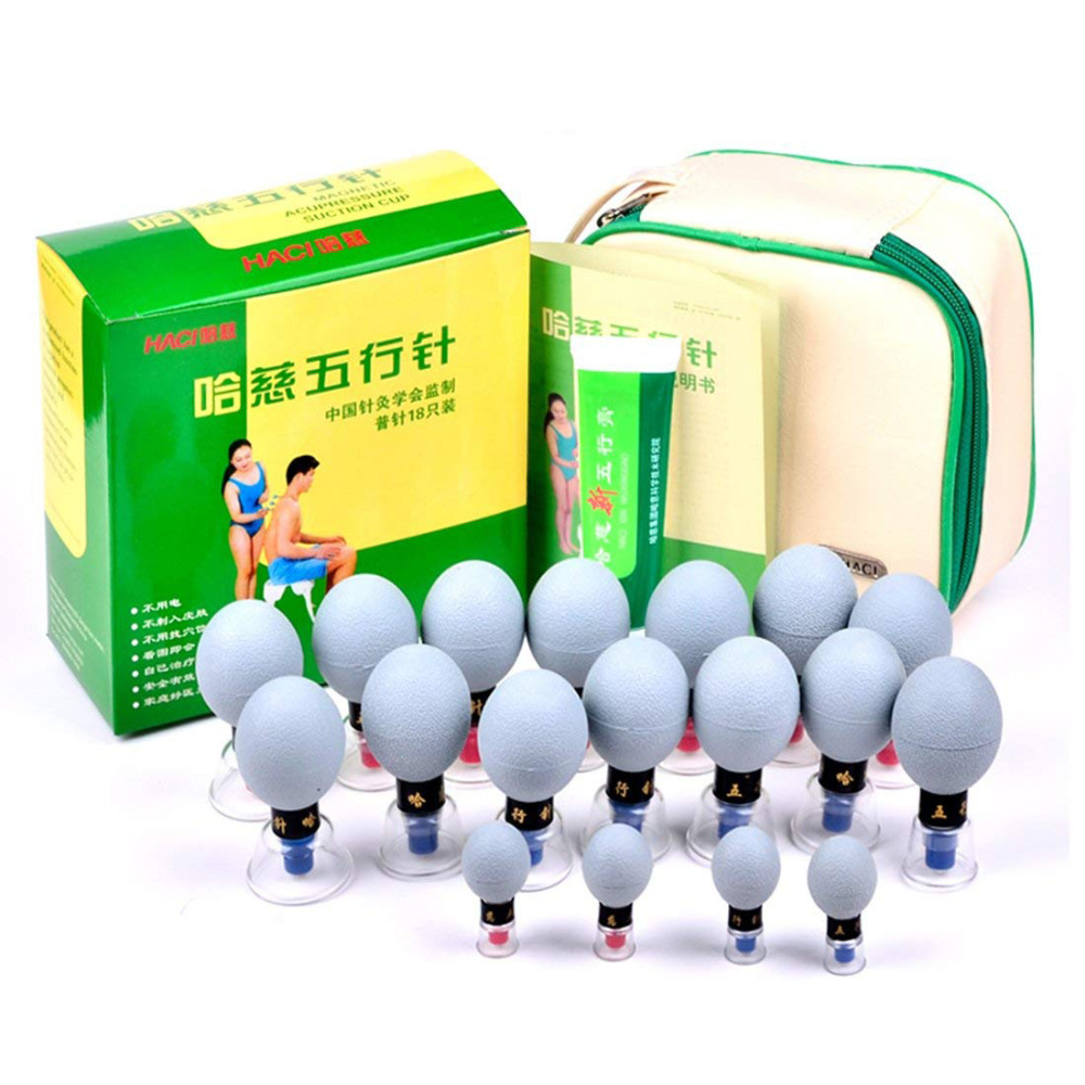 18pcs Household Vacuum Haci  Magnetic Therapy Acupressure Suction Cup TCM Meridian Acupuncture Cupping Set Moxibustion Massage18pcs Household Vacuum Haci  Magnetic Therapy Acupressure Suction Cup TCM Meridian Acupuncture Cupping Set Moxibustion Massage