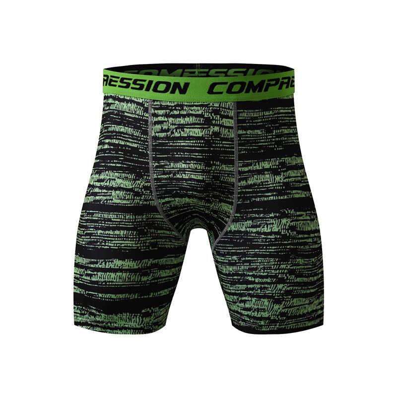 Baru 2017 Kebugaran Musim Panas 3D Celana Pendek Pria Merek Pakaian MMA Celana Ketat Kompresi Celana Kamuflase Celana Pendek Pria S-XXXL