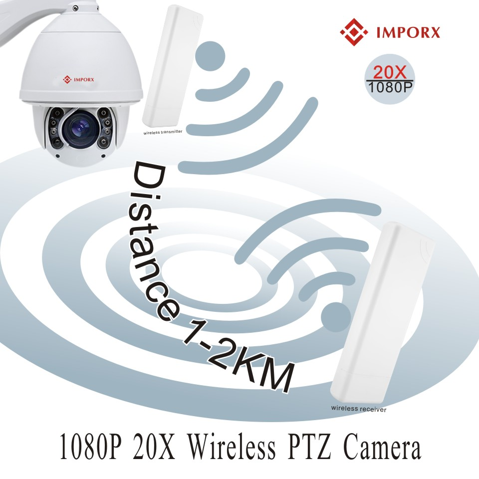 2 sets of wireless kit video surveillance IP PTZ camera WIFI full HD 1080P 20 times zoom automatic tracking hemisphere camera On2 sets of wireless kit video surveillance IP PTZ camera WIFI full HD 1080P 20 times zoom automatic tracking hemisphere camera On
