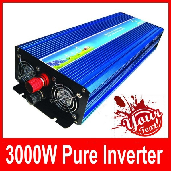 цена на Digital Display 3000W 6000W peak DC 12V to AC 220/230/240V Pure Sine wave Power inverter 3000 6000 watt Free shipping