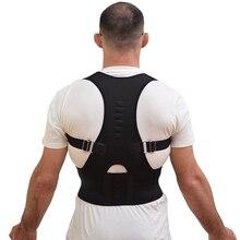 Adjustable Magnetic Posture Corrector Corset Back Support Brace Belt Orthopedic Vest Black White Corset Back Support