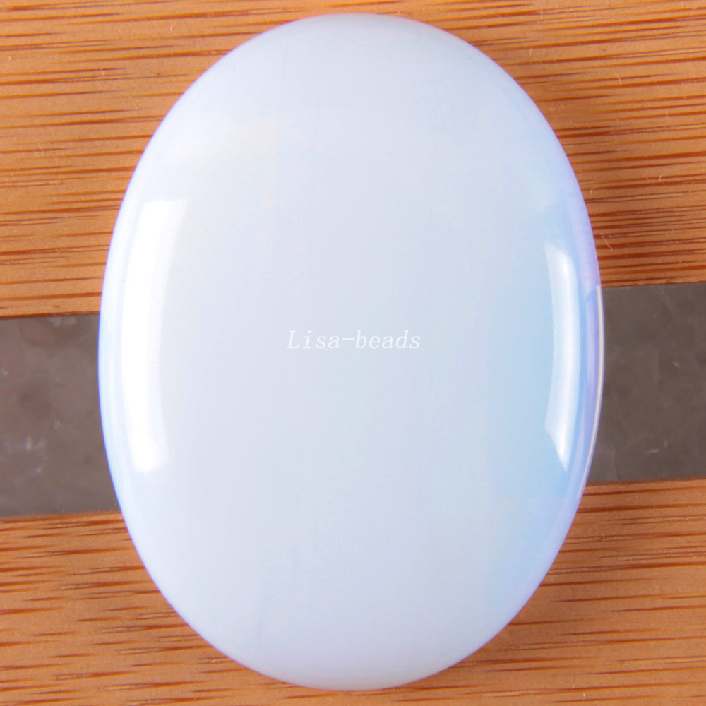 Free Shipping Fashion Jewelry Oval 30x40MM Natural Light Blue Opal CAB Cabochon 1Pcs K1681