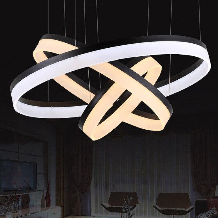Modern Minimalist Acrylic Circle Led Pendant Lamp Villa Living RoomChina
