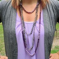 25 цветов 2019 новая Длинная нить завязанное граненое ожерелье из бисера для женщин модные многослойные цепочки для свитера ожерелье оптовая ...